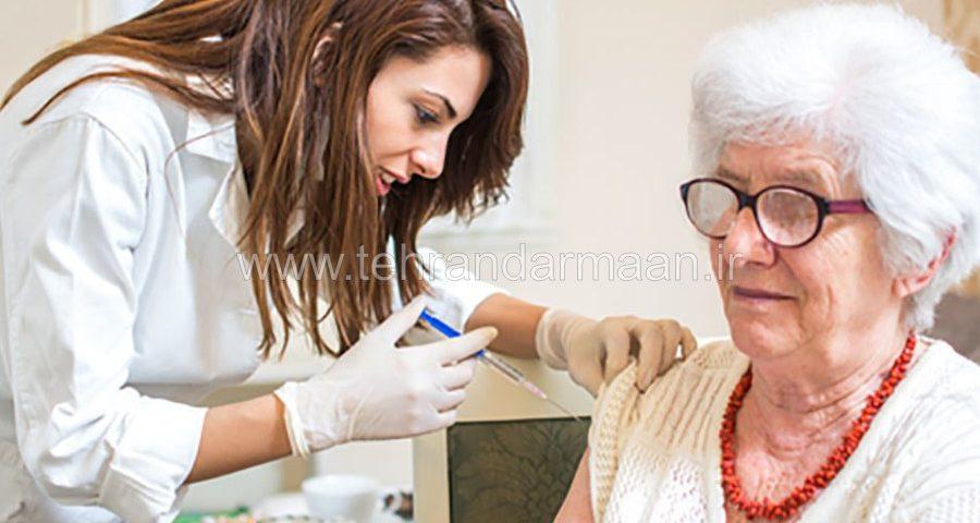 تزریقات، پانسمان زخم، سرم تراپی در خانه